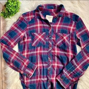 A&F | Plaid Flannel Button Down Shirt